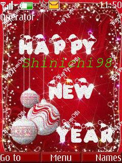 Theme Happy New Year 2014 + Noen 2014 Thuỷ Tinh Lấp Lánh +Nền Phát Sáng, Icon Động
